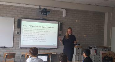 Lotte de Bruijn geeft gastlessen op ds. Pierson College in Den Bosch