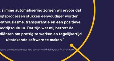In gesprek met young professional Bregje Kok van AFAS Software